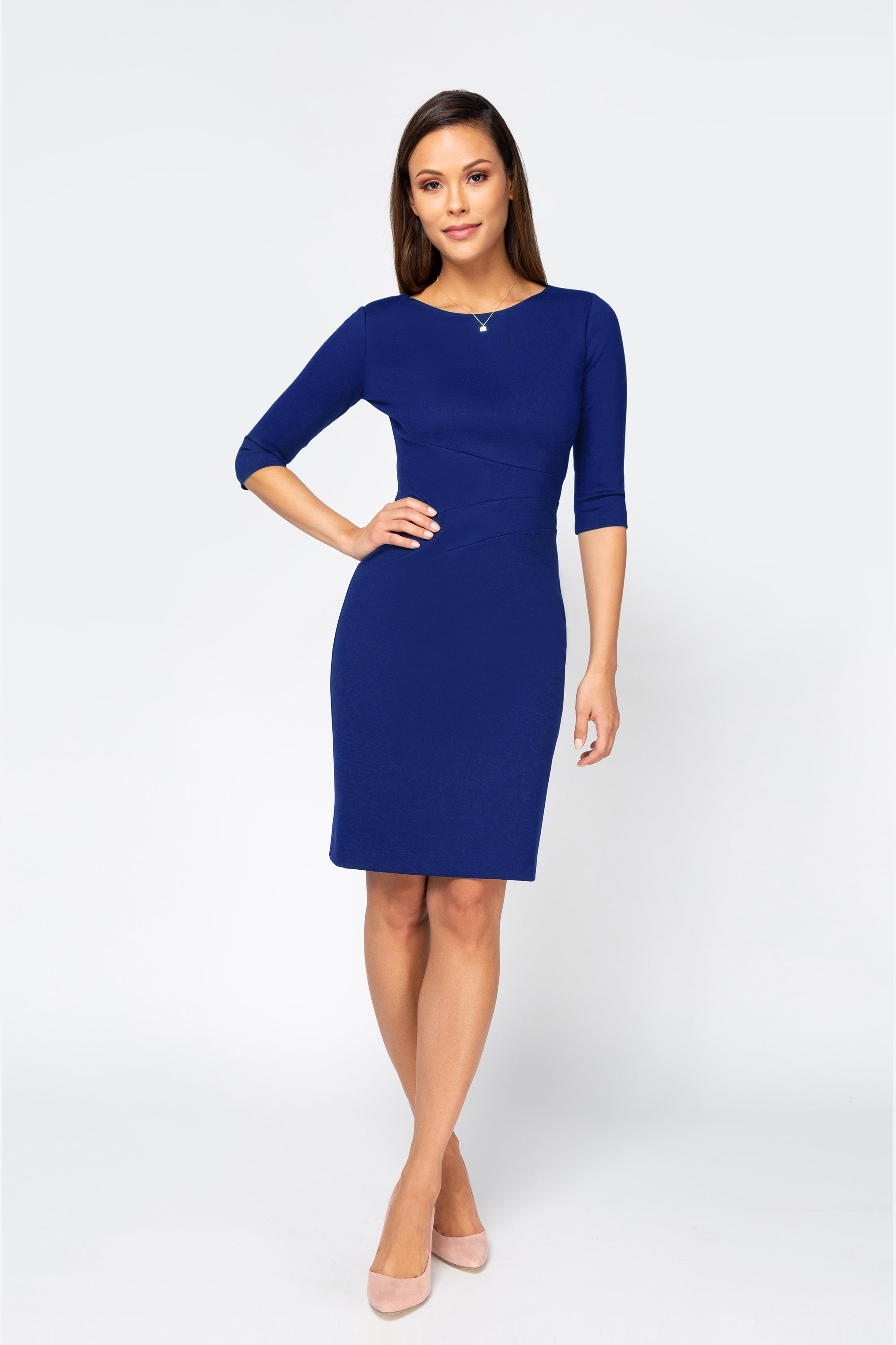 Women's Lydia Dress in Royal Blue | Nora Gardner Front