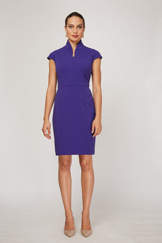 Front Women's Evelyn Dress in Amethyst | Nora Gardner