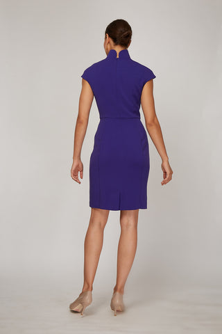 Back Women's Evelyn Dress in Amethyst | Nora Gardner