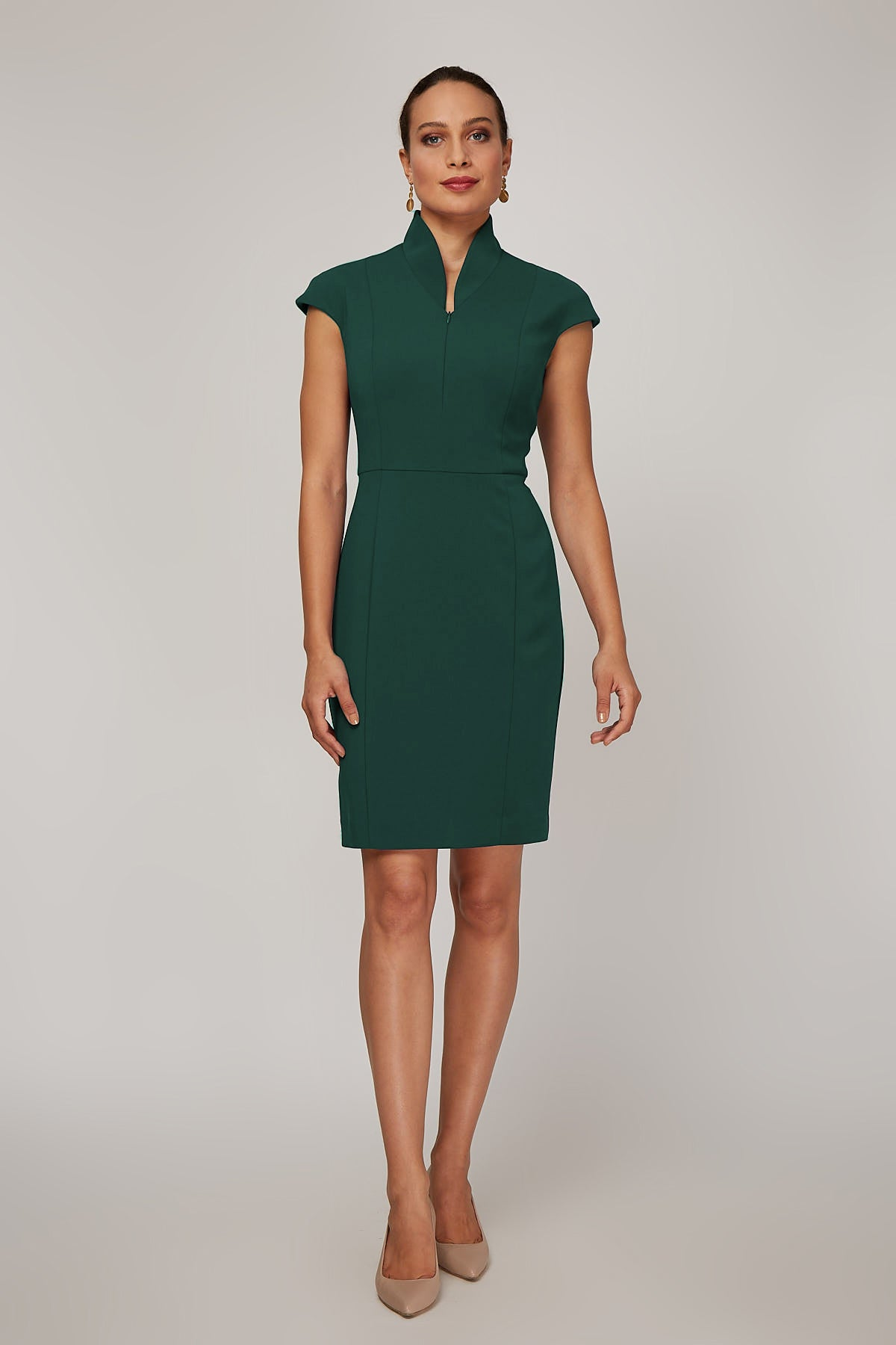 Evelyn Dress - Hunter Green Pre-order