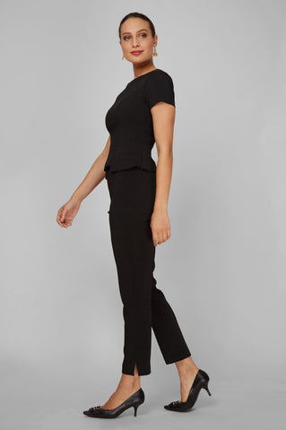 Women's Audrey Work Pant in Black | Nora Gardner - Side