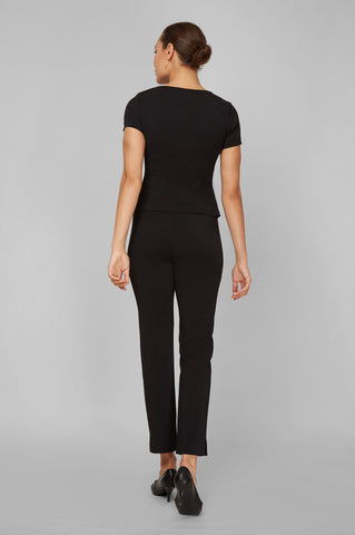 Women's Audrey Work Pant in Black | Nora Gardner - Back