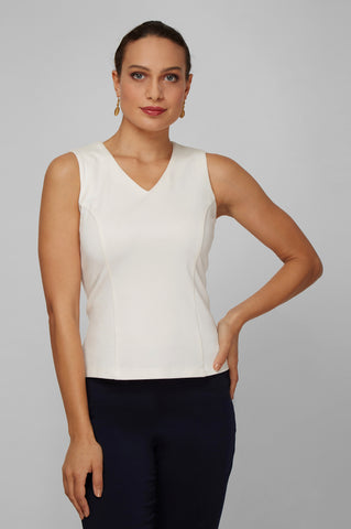 Women's Anna Top in White | Nora Gardner - Front