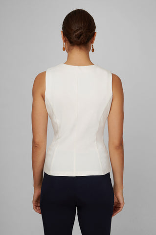 Women's Anna Top in White | Nora Gardner - Back