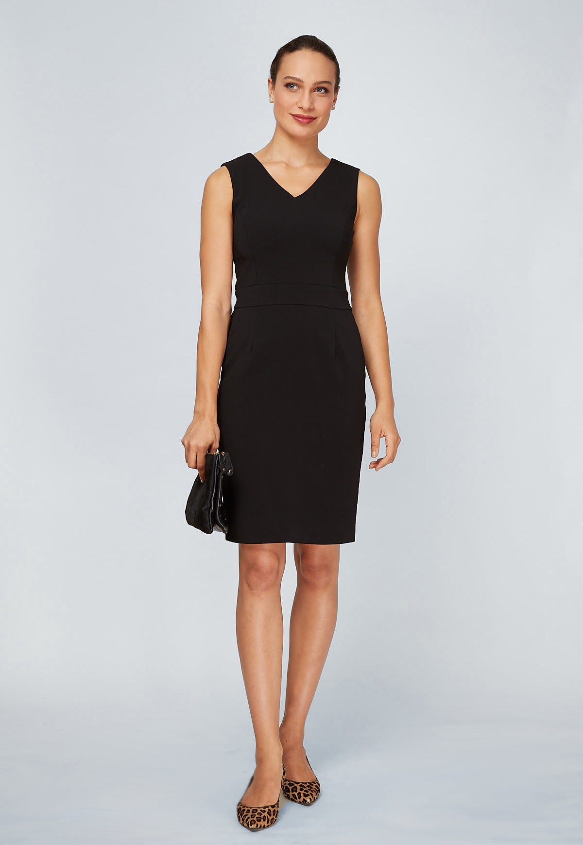 Alyssa Dress V Back - Black