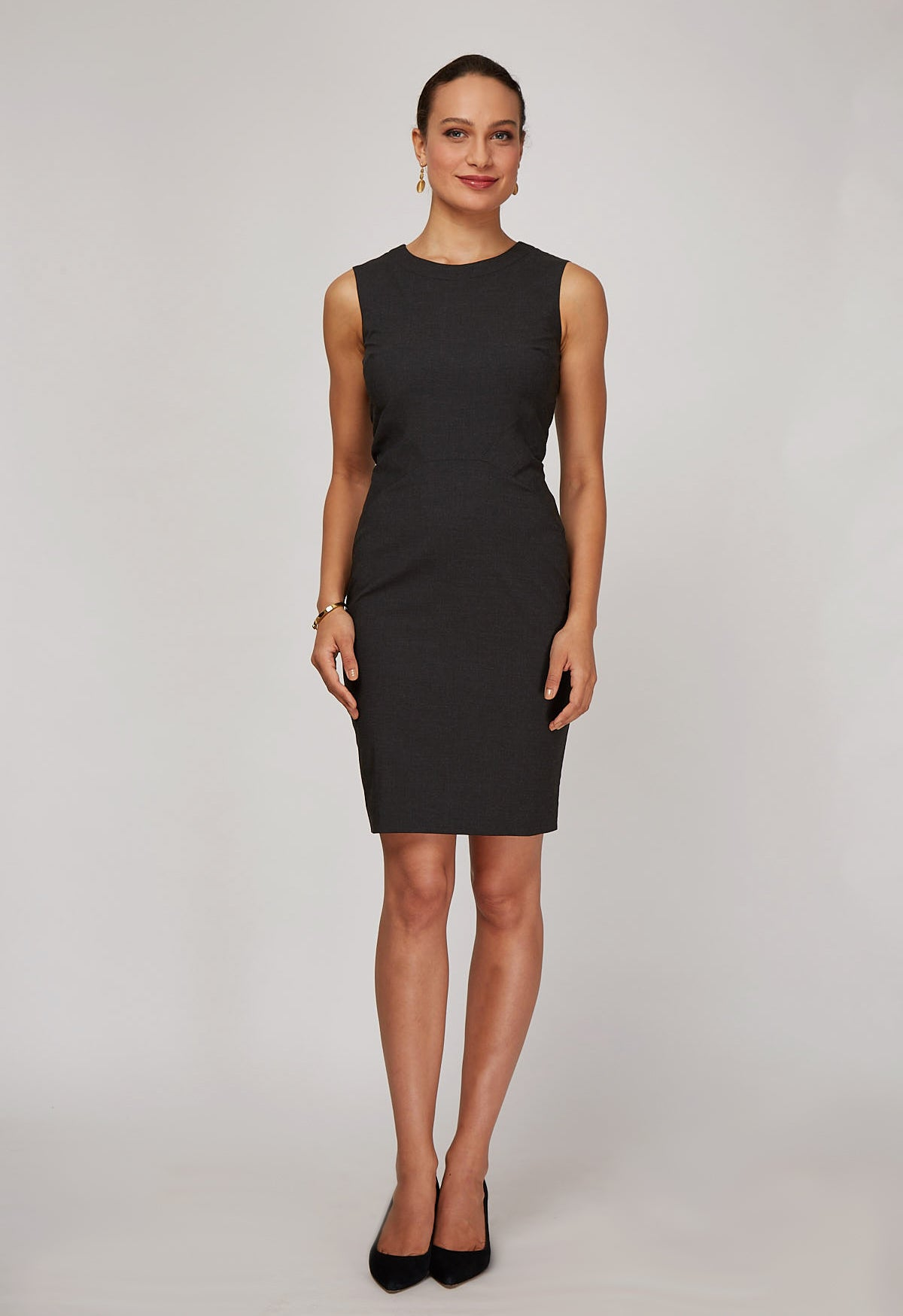 Front Women's Editor Dress in Charcoal | Nora Gardner