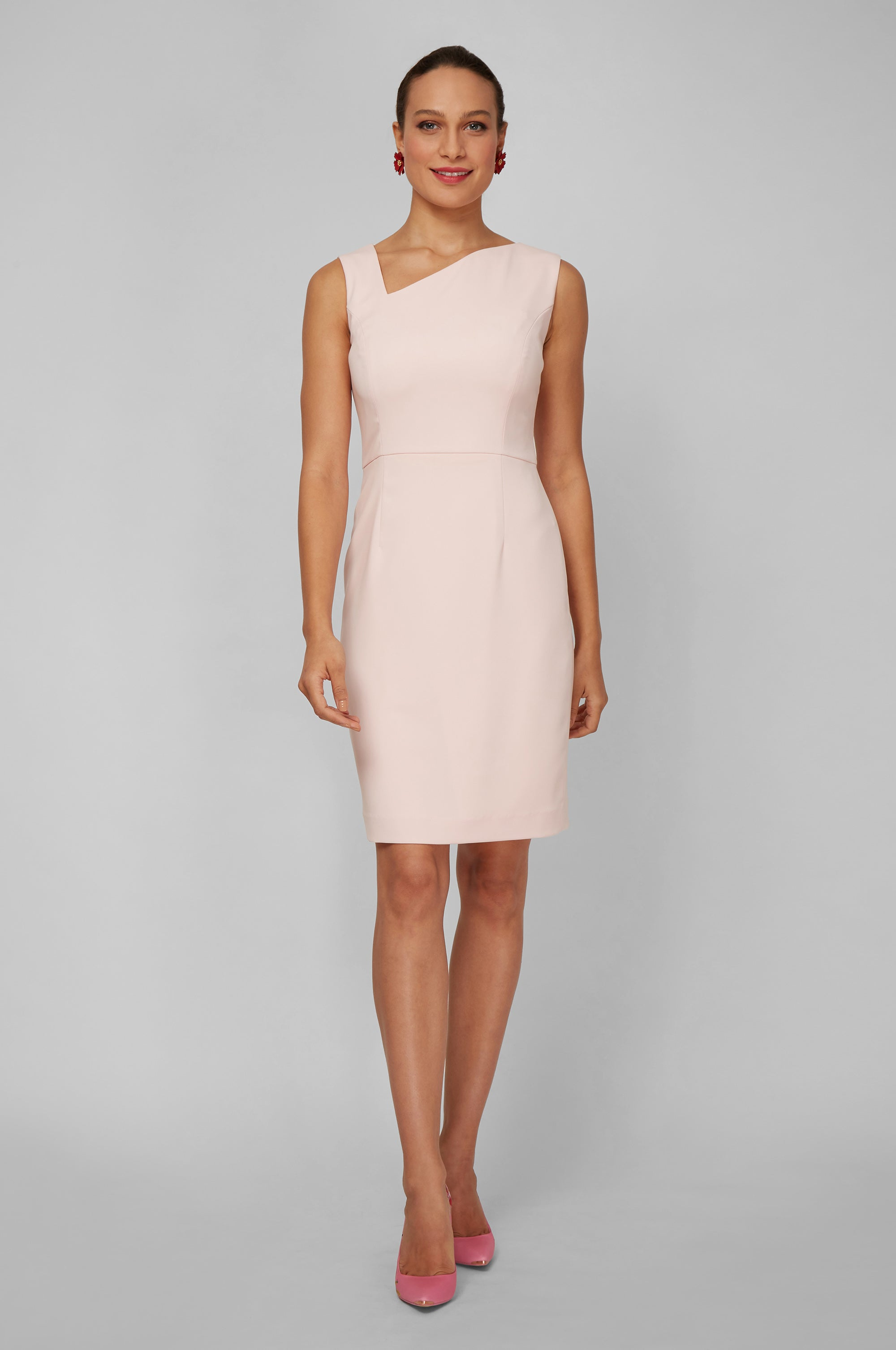 Women's Clea Dress in Ballerina Pink | Nora Gardner - Front