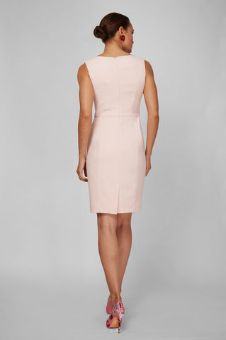 Women's Clea Dress in Ballerina Pink | Nora Gardner - Back