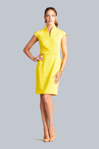 Evelyn Dress - Canary Yellow