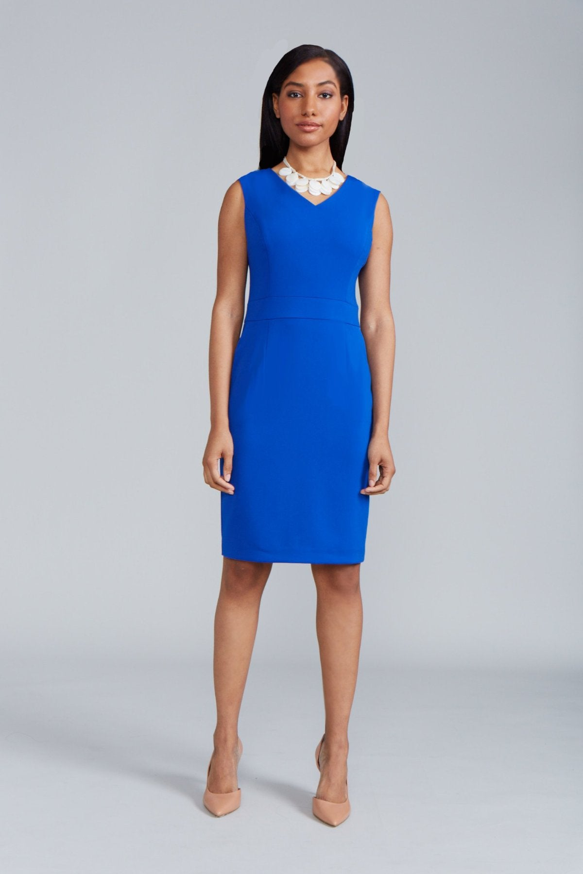 Alyssa Dress Back V-Neck - Royal Blue