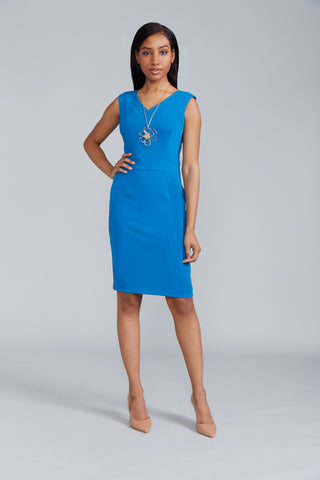 Alyssa Dress Back V-Neck - Peacock