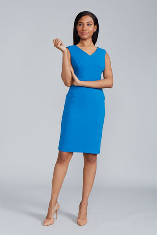 Women's Alyssa Dress in Peacock | Nora Gardner - Front