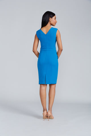 Women's Alyssa Dress in Peacock | Nora Gardner - Back