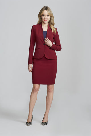 Women's Workwear – Nora Gardner Chelsea Skirt in Burgundy (front)