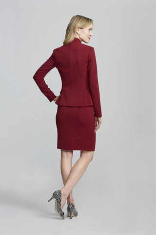 Women's Workwear – Nora Gardner Chelsea Skirt in Burgundy (back)