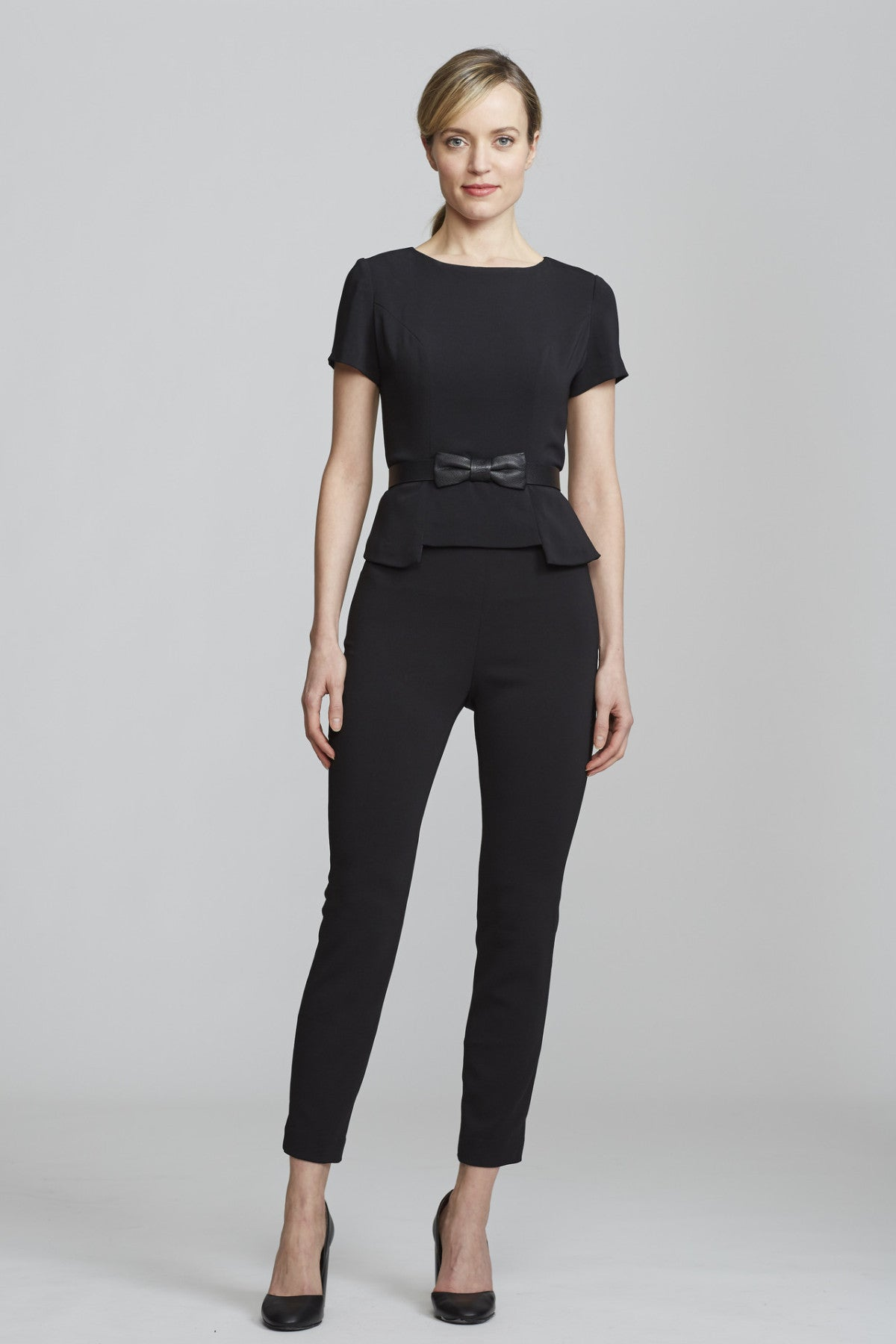 Women's Chelsea Top in Black | Nora Gardner - Front