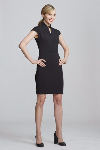 Side Women's Evelyn Dress in Black | Nora Gardner