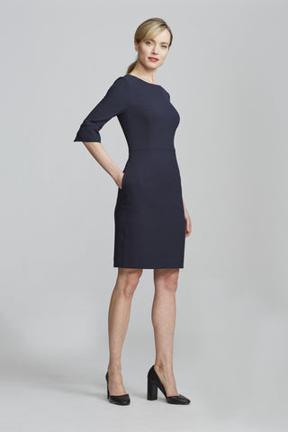 Women's Gabrielle Dress in Navy | Nora Gardner Side