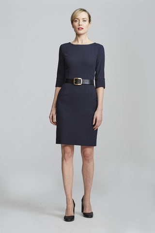 Women's Gabrielle Dress in Navy | Nora Gardner Front