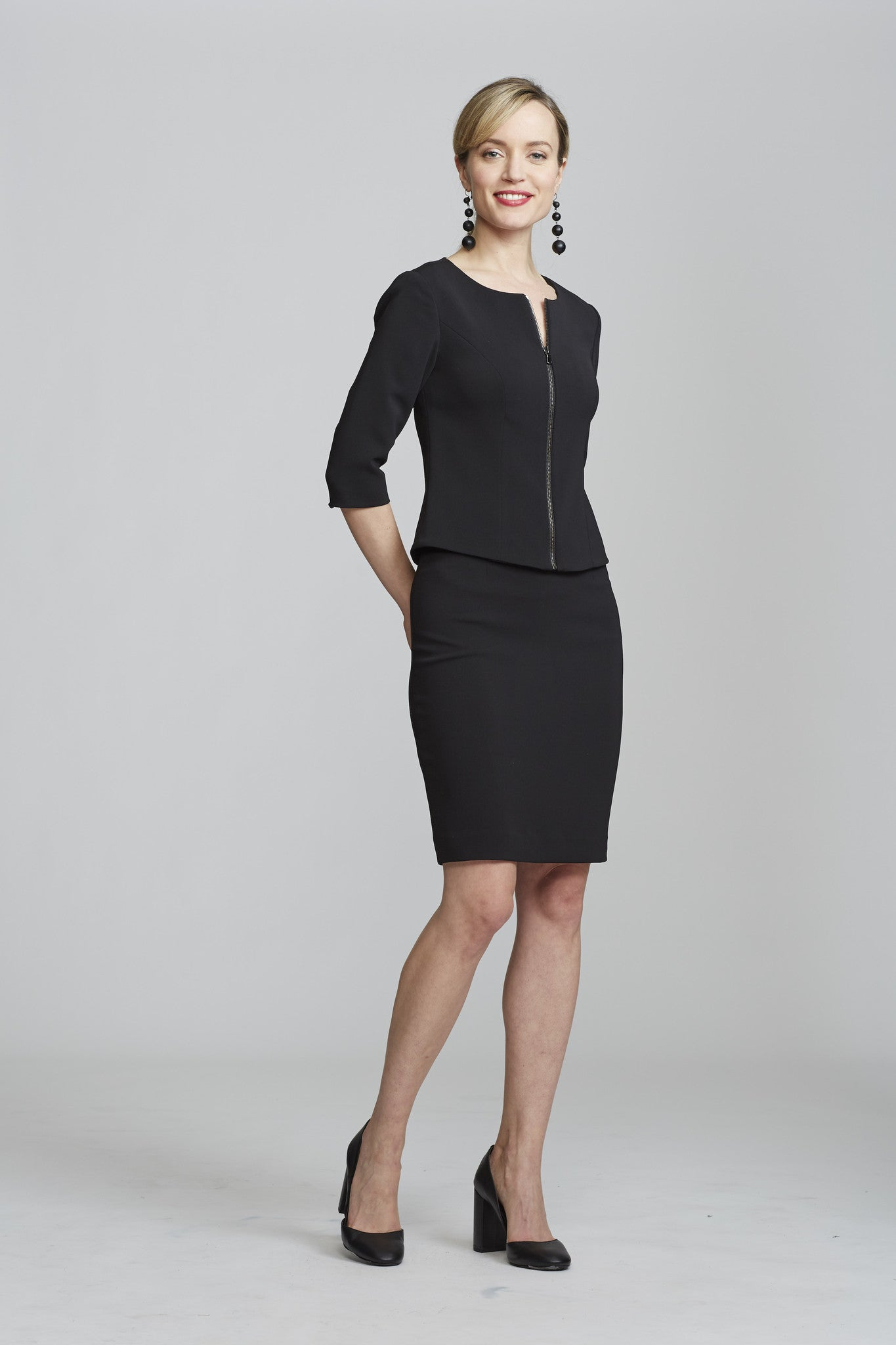 Women's Chelsea Skirt in Black | Nora Gardner - Front