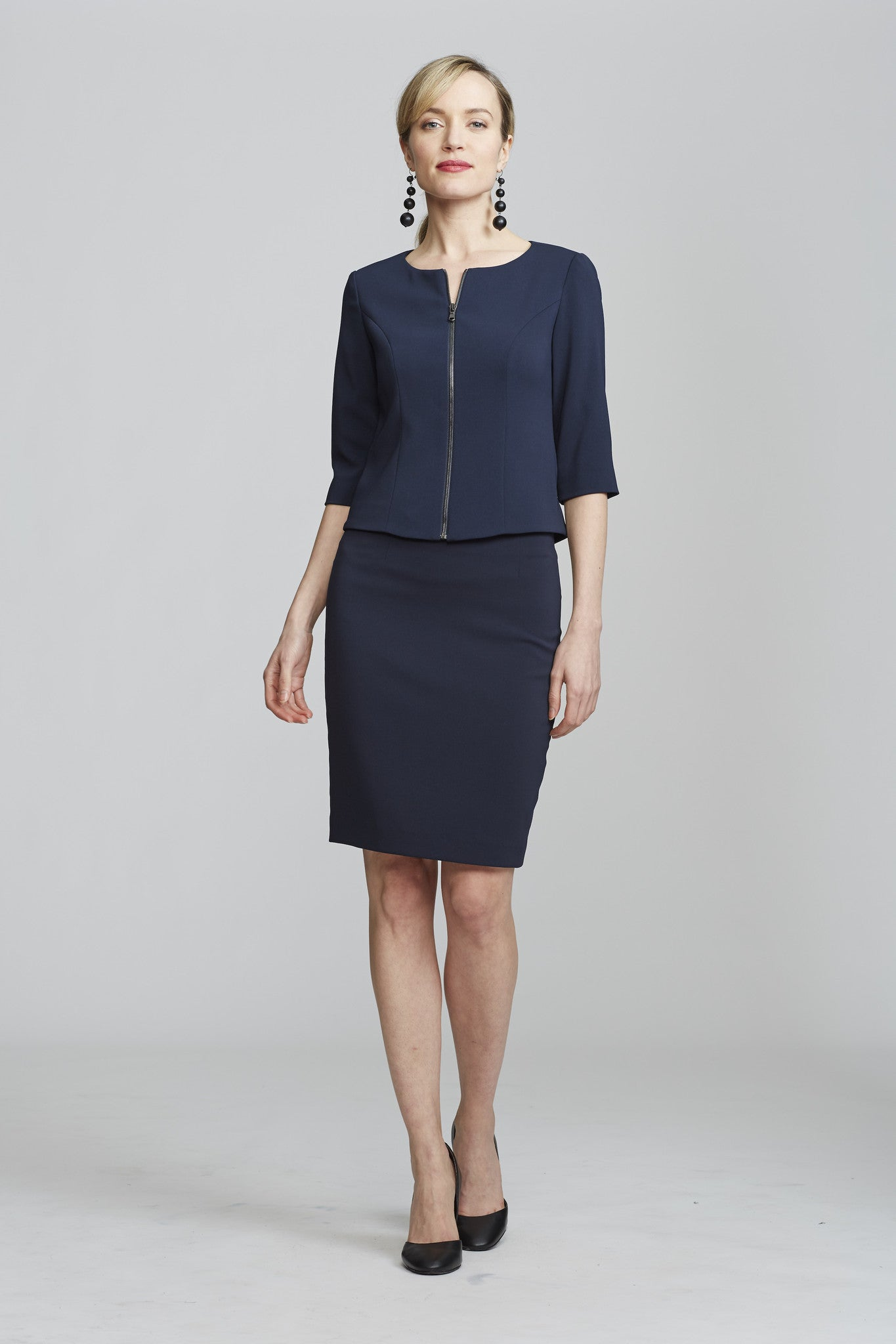 Front Women's Juliet Jacket in Navy | Nora Gardner