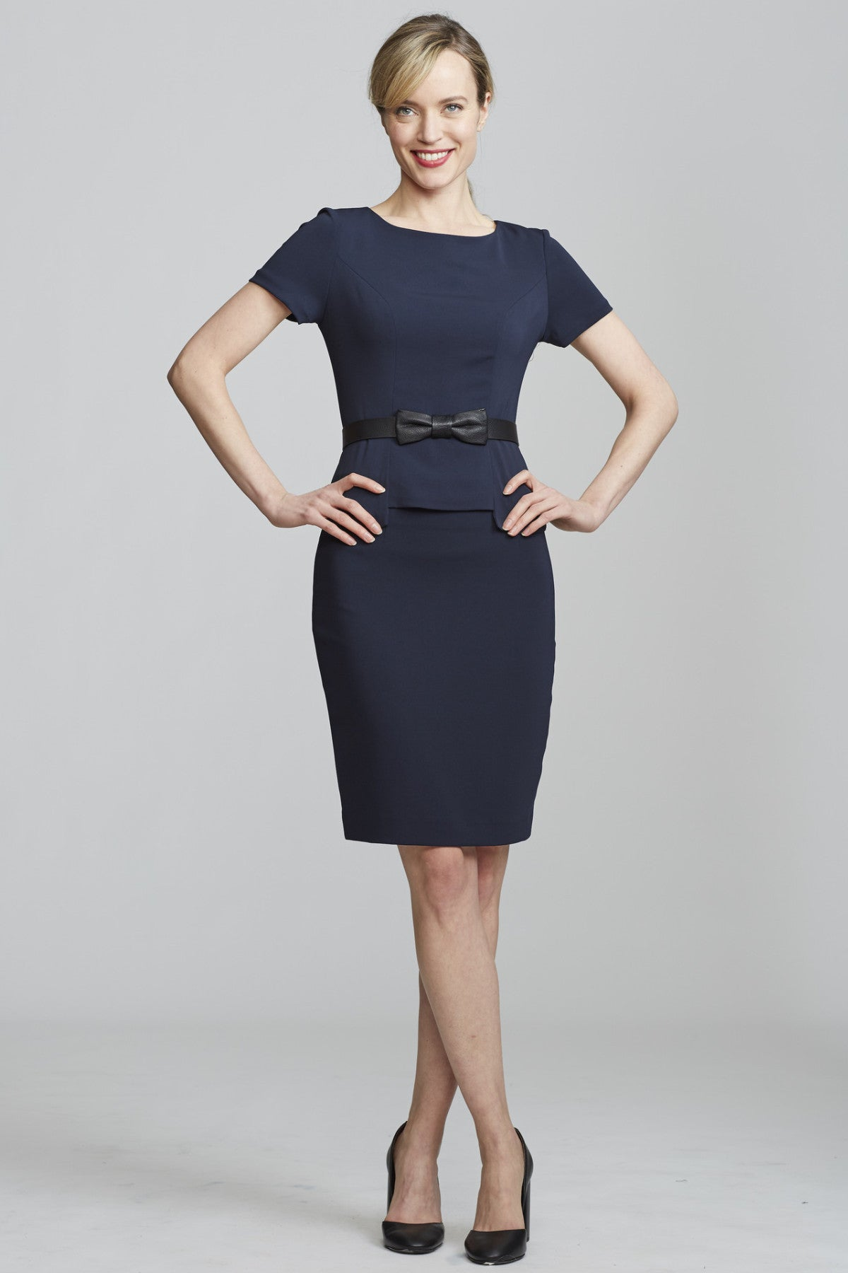 Women's Chelsea Skirt in Navy | Nora Gardner - Front