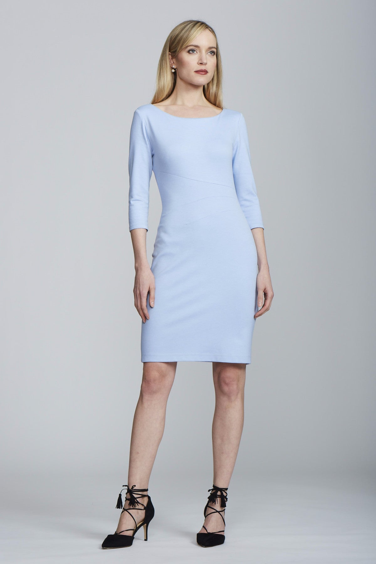 Women's Lydia Dress in Baby Blue | Nora Gardner Front