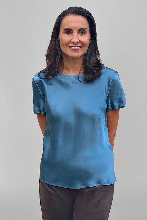 Katie Silk Top - Slate