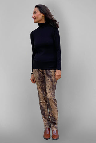 Ultrasuede Stretch Pant - Croco Print