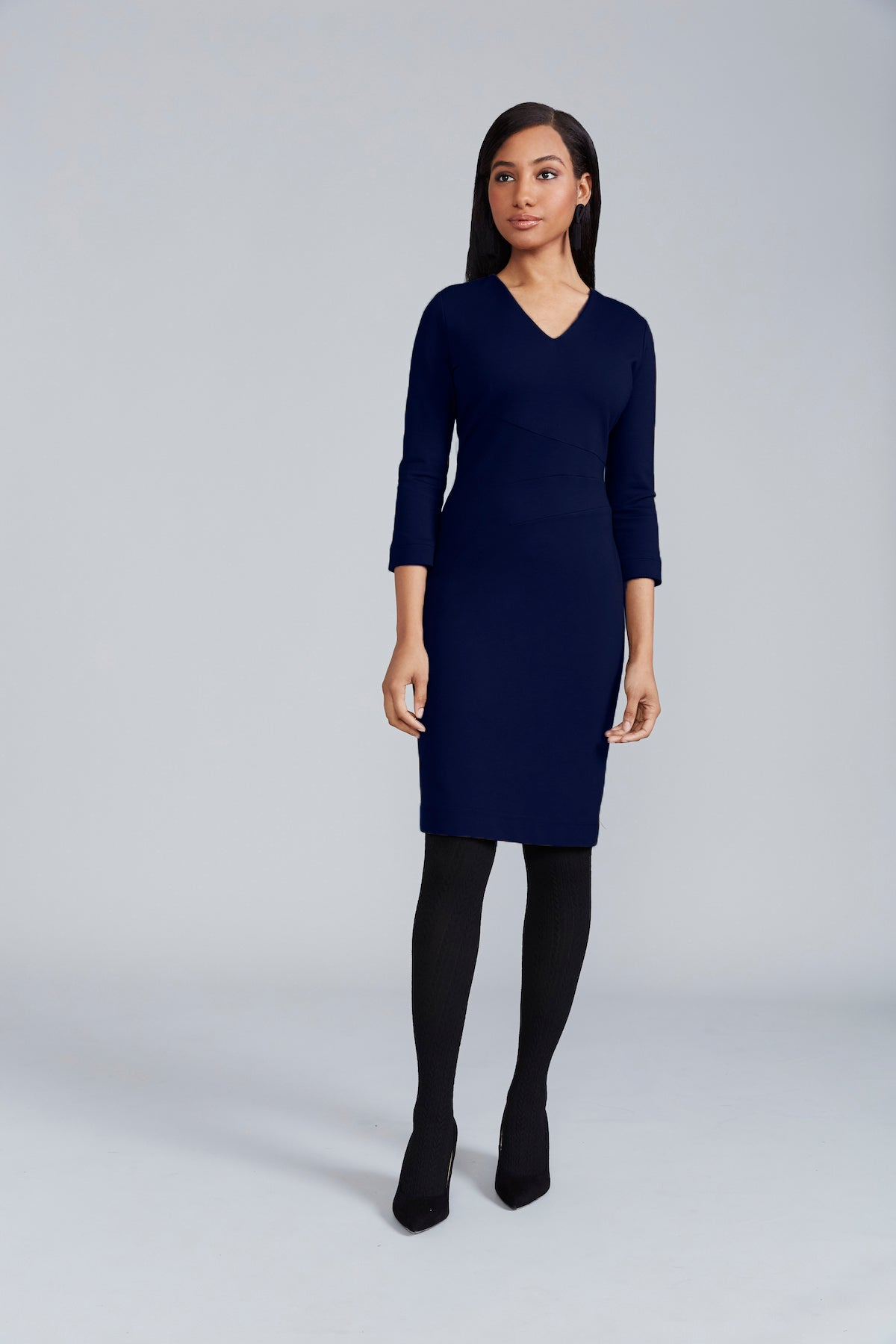 Aria Dress - Navy