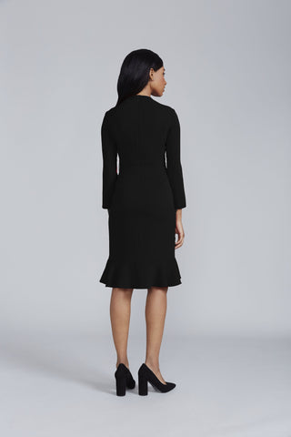 Women's Giselle Crepe Dress in Black | Nora Gardner Back