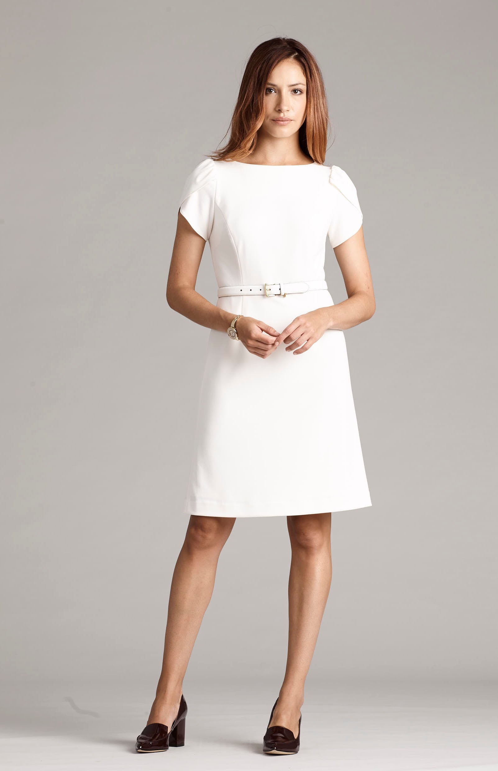 Etta Petal Sleeve Dress - Cream