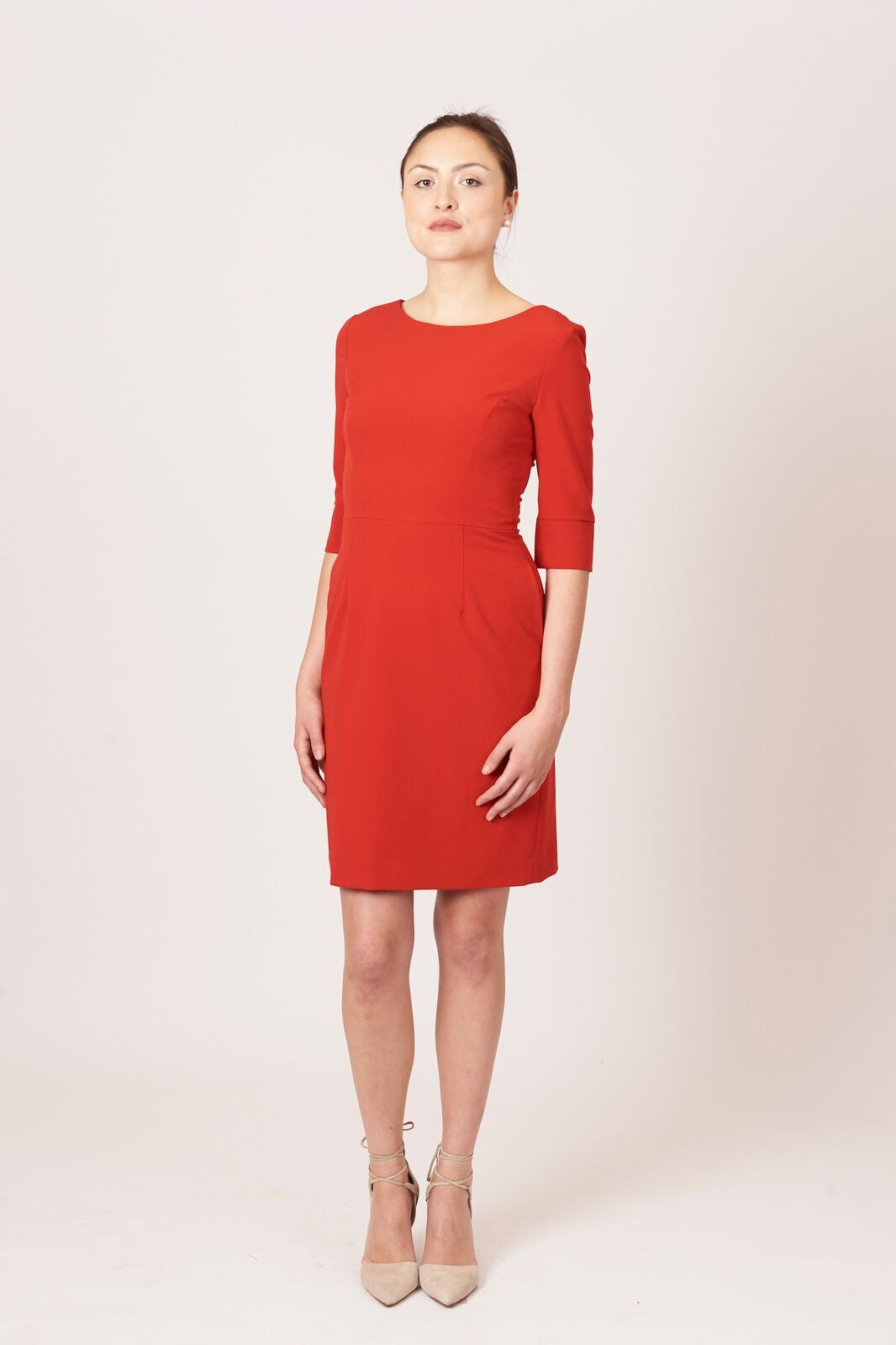 Women's Gabrielle Dress in Red | Nora Gardner Front