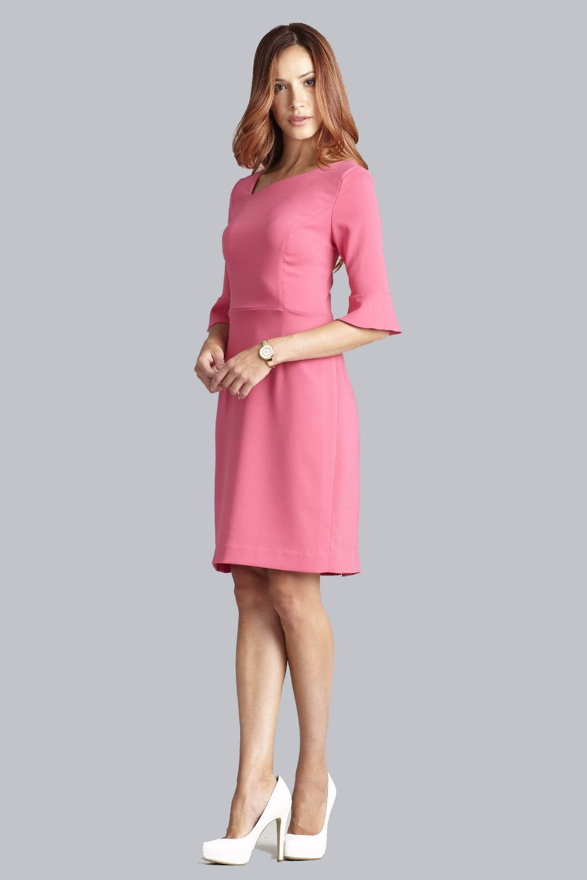 Kate Bell Sleeve Dress - Raspberry