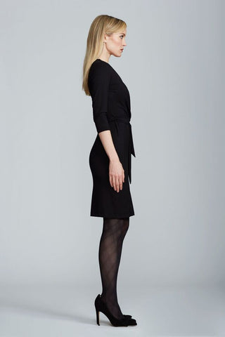 Leyla Wrap Dress - Black