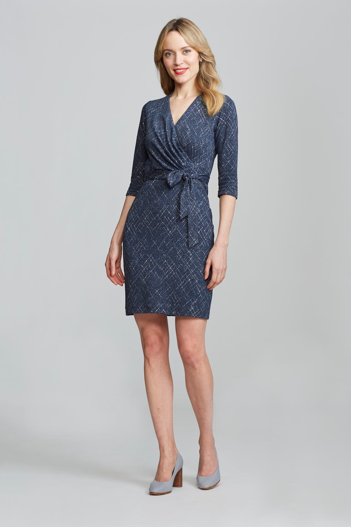Leyla Wrap Dress - Navy Print