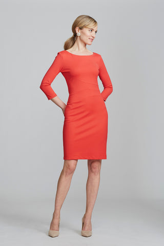 Lydia Dress in Poppy | Nora Gardner Professional Dresses