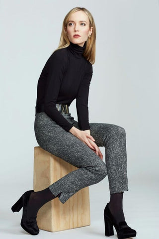Women's Rosemary Knit Turtleneck in Black | Nora Gardner Front
