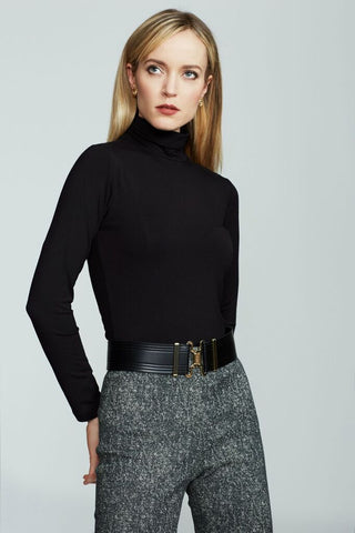 Women's Rosemary Knit Turtleneck in Black | Nora Gardner Back