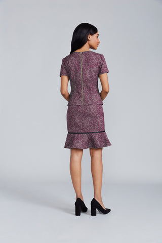 Suzanne Top – Merlot and White Tweed