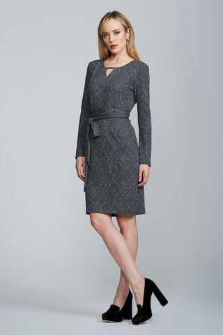 Zahara Dress - Grey Print