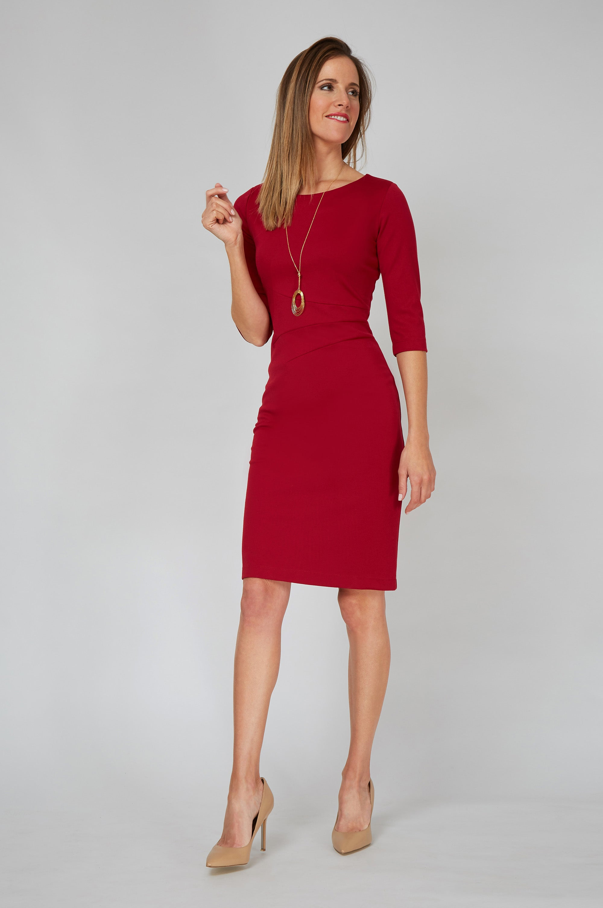 Women's Lydia Dress in Venetian Red | Nora Gardner front