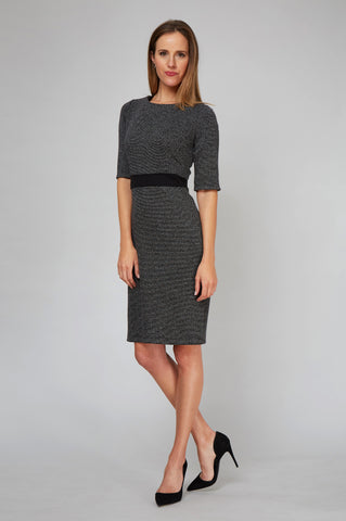 Karyn Dress - Black and White Knit