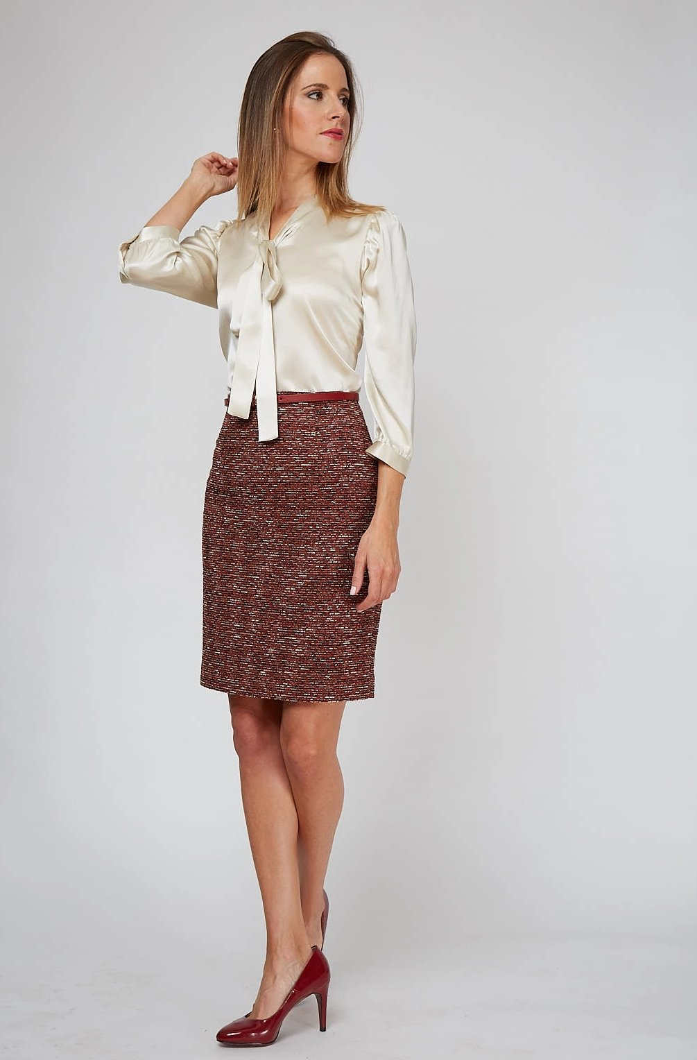 Women's Chelsea Skirt in Roma Boucle | Nora Gardner - Front