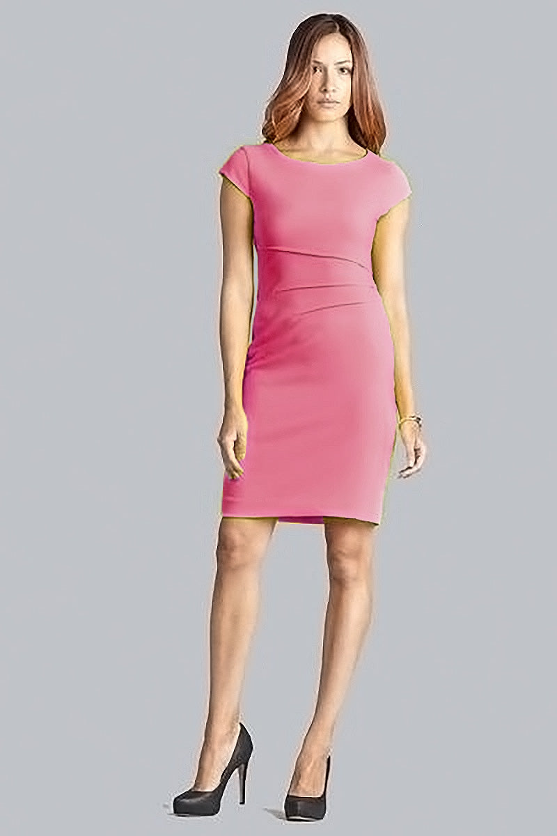 Verana Reverse Crepe Dress - Raspberry