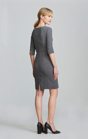 Gabrielle Dress - Light Charcoal