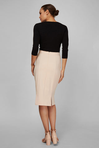 Women's Rita Skirt in Oat | Nora Gardner Back
