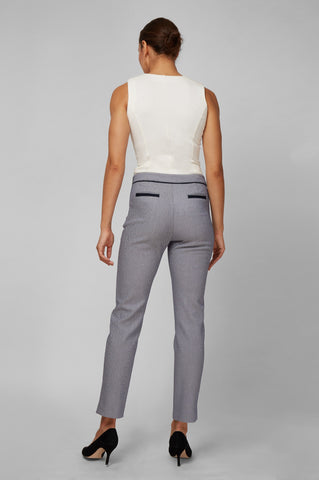 Women's Justine Pants in Basketweave | Nora Gardner Product Back