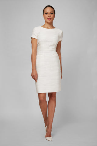 Women's Dinah Dress in Ivory Boucle | Nora Gardner - Front