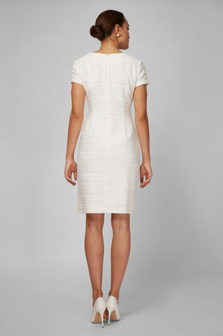 Women's Dinah Dress in Ivory Boucle | Nora Gardner - Back